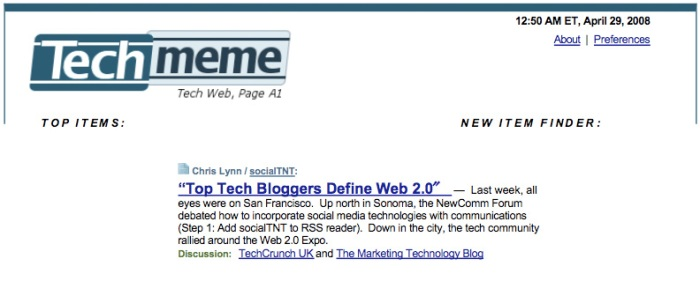 socialTNT on Techmeme 04 28 08