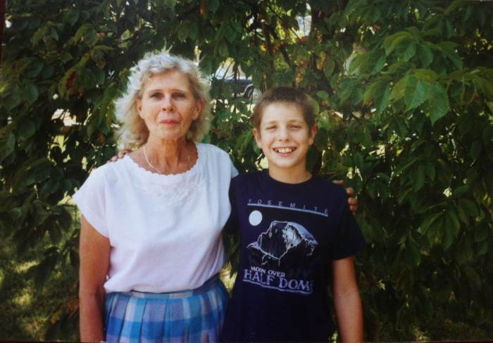 Undated photo of me with my granny. I think this is 1988.